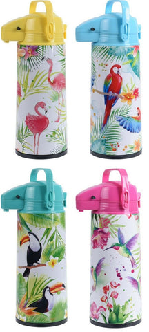 1.9 Litre Airpot. Bright Coloured Pump Action Insulated Hot Water Flask Air Pot