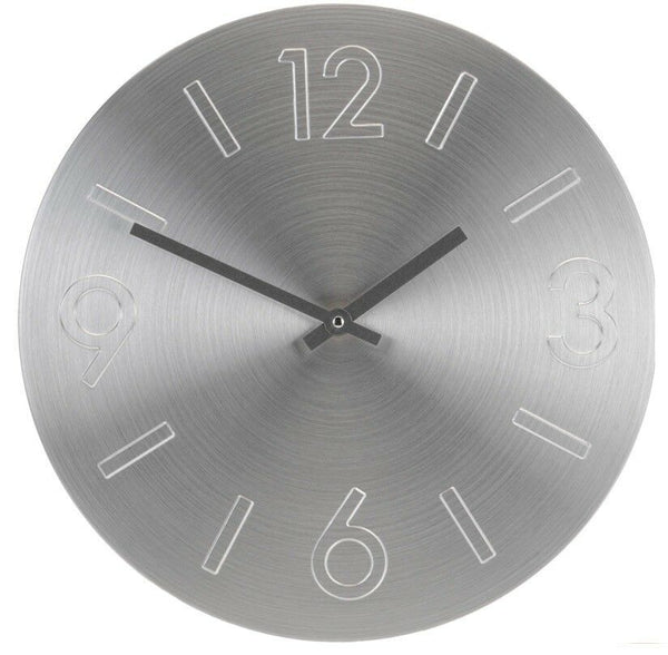 Large 35cm Aluminium Wall Clock in Gold Silver or Rose