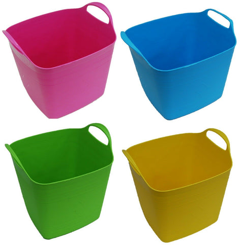 15 Litre Square Flexi Bucket Log Basket Strong Sturdy & Flexible With Handles