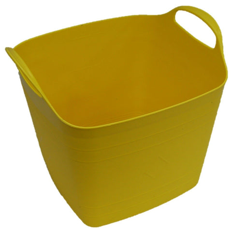 40 Litre Square Flexi Bucket Log Basket Strong Sturdy & Flexible With Handles