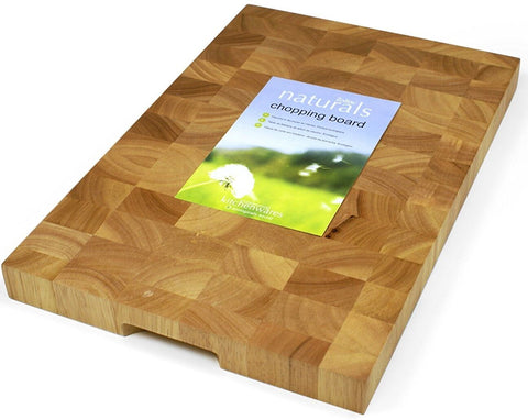 Zodiac Commercial  LARGE Rectangular Butchers Block End Grain Chopping Board