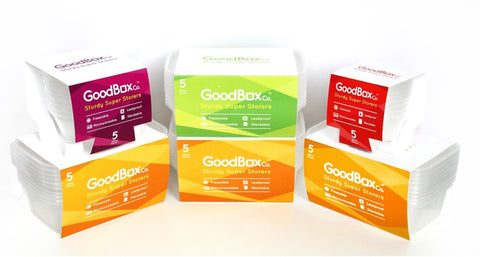 Goodbox Plastic Food Storage Containers Leakproof Microwave Stackable Freezable