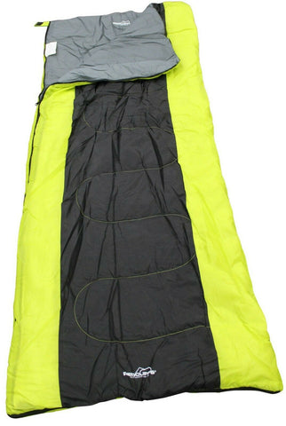 Bright Coloured Lime Green & Black Sleeping Bag 190cm x 80cm Children & Adults
