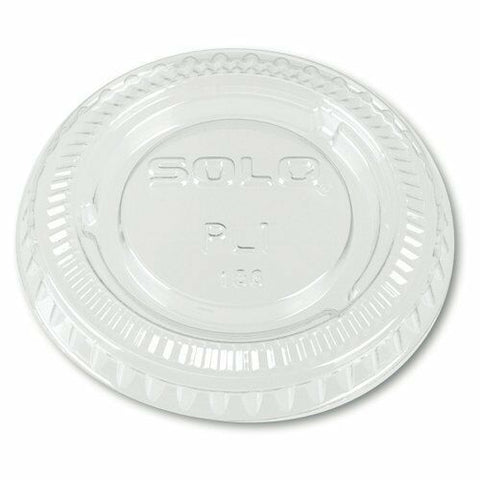 2000 x Solo PL1 Small Clear Disposable Plastic Storage Lids (100 Per Sleeve)