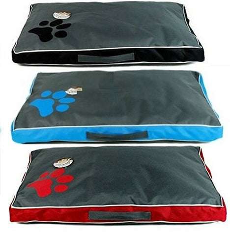 Dog Cushion Cat Cushion Pet Cushion Waterproof Cushion Handle Removable Cover