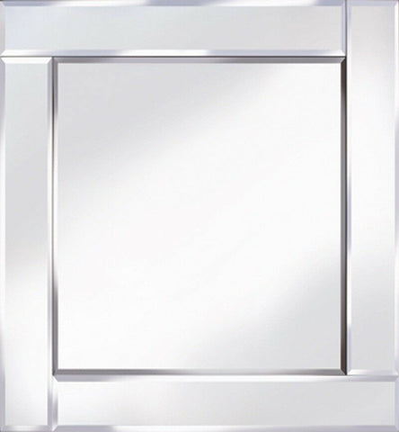 Classic Flat Bar Silver Mirror Square Wall Mirror 60cm x 60cm
