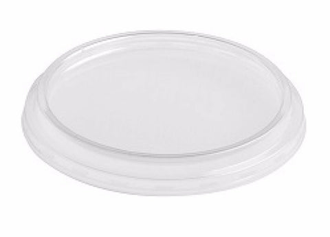 1990 X Sapphire Clear Plastic Disposable 4oz Small Round Bowl Container Lids