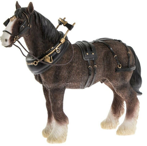 Leonardo Collection Shire Horse Figurine Ornament Clydesdale Horse