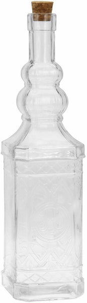 Home Decor Bottles Assorted Clear Glass Vintage Bottle Drinks Storage Drinkware