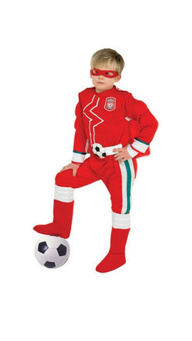 Football Liverpool Children's Fancy Dress Costume Superhero Jumpsuit Cape Mask