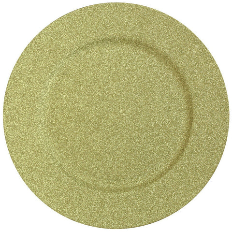 Set of 4 Shimmer Gold Charger Plates Under Plates 33cm Premium Christmas Range