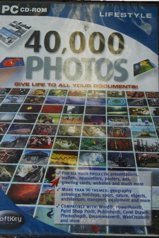 SoftKey PC Cd Rom 40,000 Photos Multi Colour Give Life All Your Documents