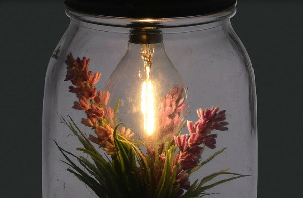 Decorative Artificial Hanging Lamp With Exotic Plants With led Light Terrarium