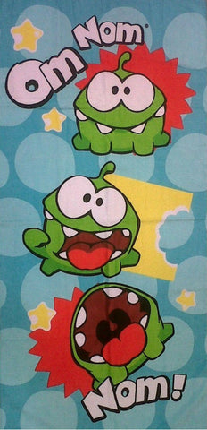 Cut The rope Om Nom Beach Bath Towel 70cm x 140cm Children Character Bath Towel