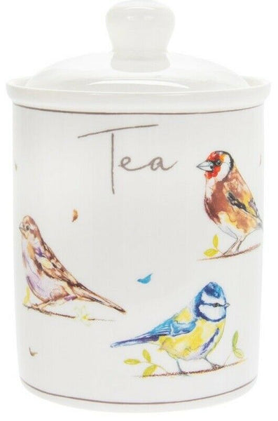 Leonardo Collection Wildlife China Set of 3 Tea Coffee Sugar Canister Airtight