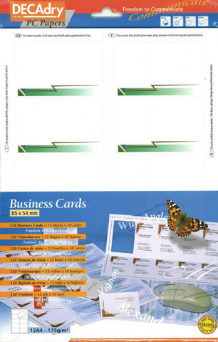 Decadry Green Flash Themed Stationary Business Cards Make your Own