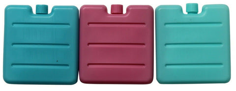 Set of 12 Mini Ice Packs Compact & Neat Bright Colours Freezer Blocks