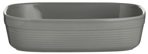 Mason Cash Rippled Rectangle Roasting Oven Dish Grey Pie Dish 24cm Dish