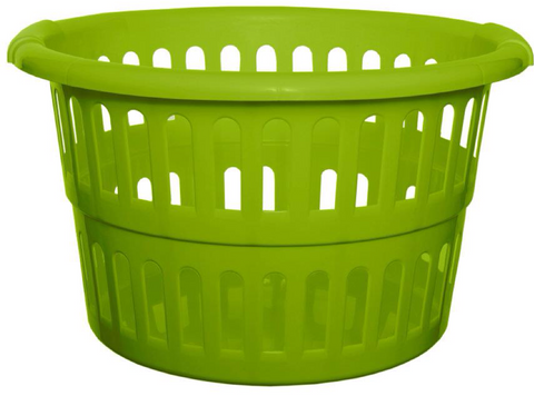 Large Deep Laundry Basket Washing Clothes Basket Green Round