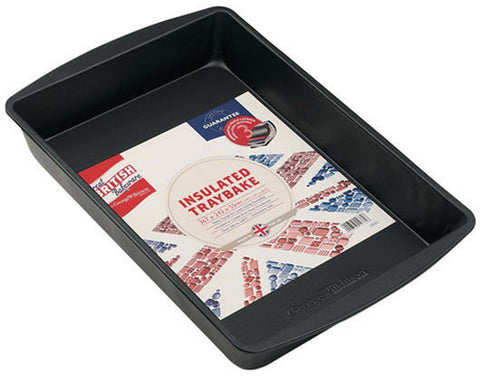 Great British Bakeware Insulated Tray Bake Non Stick Lasagne Bake Tray