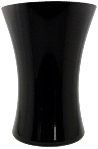 Black Glass Vase Hand Tied Vase 20cm Flower Vase Table Vase Wide Mouth
