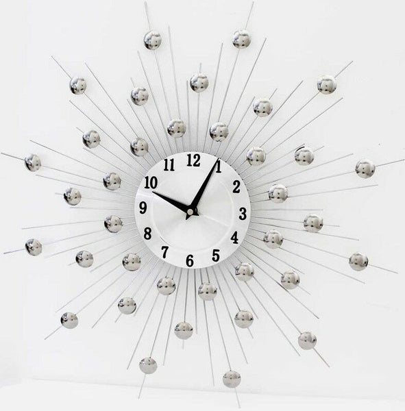 Large wall clock 46cm x 46cm Metal Wall Clock SunBurst Clock