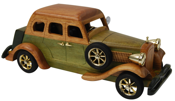 30cm Large Wooden Car Model Retro Design Intricate Finnish Design 03