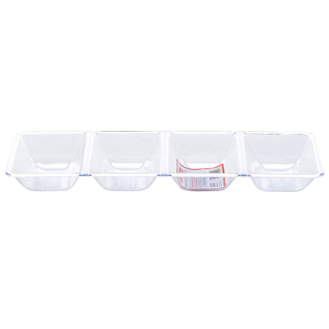 1200 x Transparent Plastic 4 Compartment Fruit/Veg/Sweets Tray