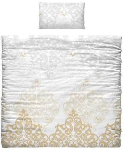 Versace 19.69 Gold Duvet Cover Pillow Case For Large Single Bed 90cm 100% Cotton