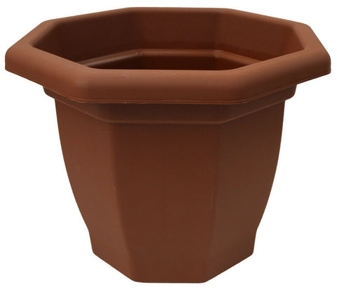 Large 50 cm Barrel Planter Terracotta Plastic Planter Plant Pot Flower Pot
