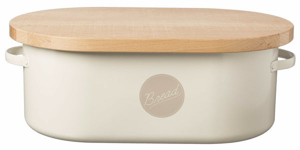 Typhoon Vintage Themed Americana Kitchen Bread Bin Retro Cream
