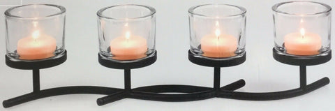 Large Votive Decorative Tea Light Candle Holder Candelabra Black Metal