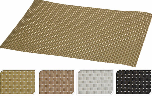 Koop Set of 4 Large Woven Easy Clean Wipeable Placemats In Different Colours