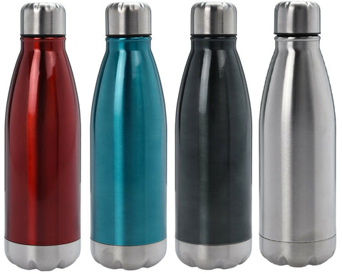 Metal 500ml Flask Bullet Flask Water Drink Bottle Hot & Cold Flask up to 12H