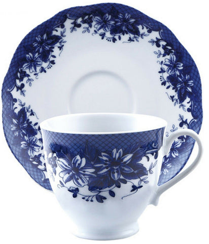 Brunchfield Skye 4 Piece Porcelain Tea Cup & Saucer Set 4