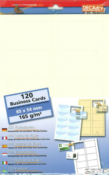 Decadry SCB-7664 Rib Chamois Business Cards Make Your Own Business Cards