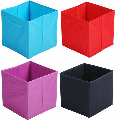 Practical Cube Colourful Foldable Collapsible Storage Box with Handles