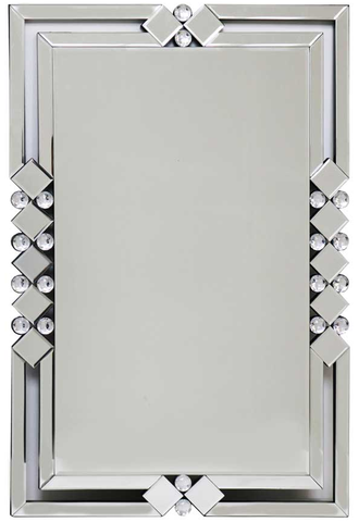Very Large Rectangle Frame Mirror 60cm x 90cm Art Deco Style Large Wall Mirror