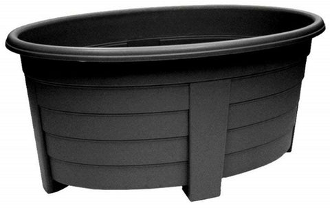 Large 55cm Large Garden Planter Plant Pot Trough Raised Planter Black