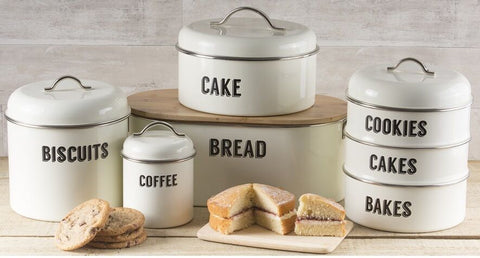 Typhoon Retro Vintage Cream Bread Bin Stacking Storage Tea Coffee Sugar Biscuit