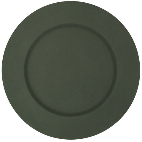 Set of 4 Green Metal Charger Plates Under Plates Place Mats