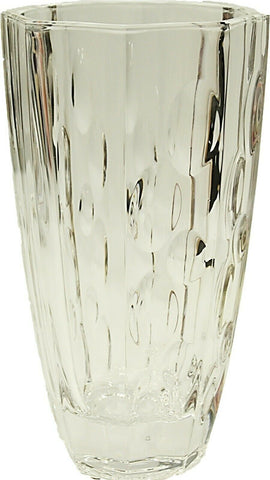 Heavy Weight Wide Mouth Crystal Glass Tall Glass Flower Vase 25cm Tall