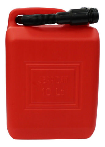 10 Litre Red Jerry Can With Spout Made in Italy