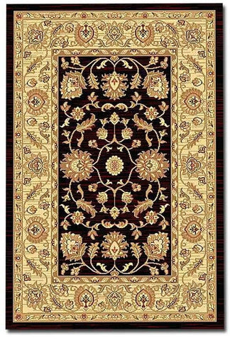 Thomas Wilton Large Antique Rug Messina Antique 160cm x 120cm Cream & Black
