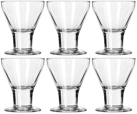 Libbey Catalina Wine Glasses Wine Goblets Ice Cream Sundae Dishes SET OF 6