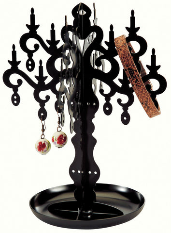 Black Metal 18cm Jewellery Stand Jewellery Tree Stand to hang your jewellery