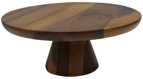 30cm Acacia Wood Cake Stand On Pedestal