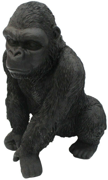 Out Of Africa Jungle Black Gorilla Figurine Ornament Wildlife Collection 28cm