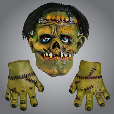 Frankenstein Scary Halloween Latex Mask & Gloves Halloween Mask Fancy Dress