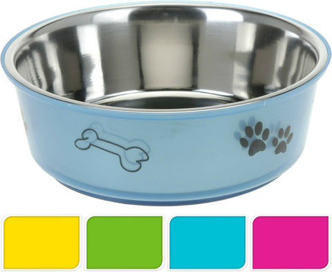 Dog Feeding Bowls Stainless Steel Anti Slip Base Pet Bowl Dog Bowl